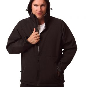 Mens Aspen Softshell Hooded Jacket