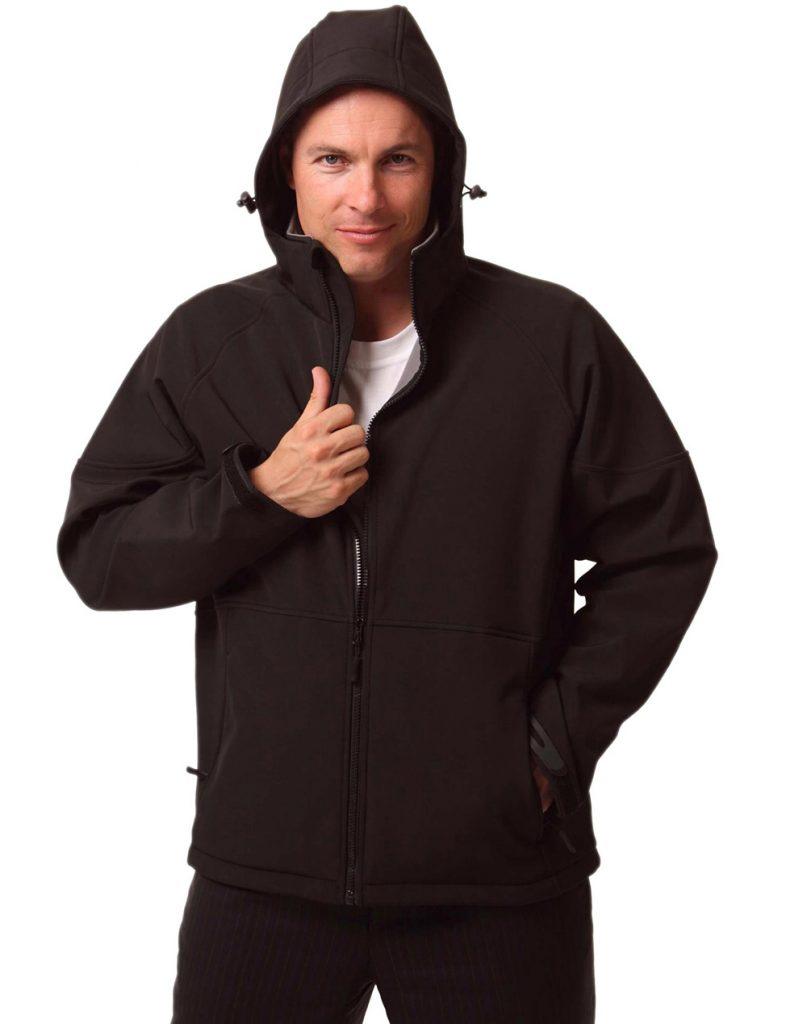 Mens Aspen Softshell Hooded Jacket