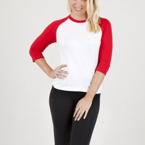 Ladies 3/4 Sleeve Raglan T-Shirt