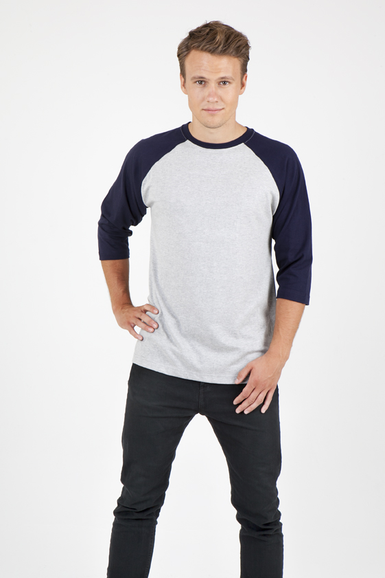Mens 3/4 Sleeve Raglan T-Shirt