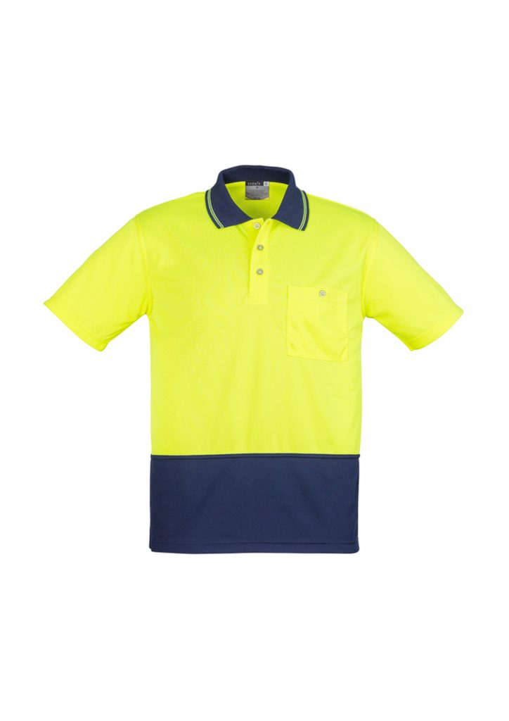 Mens Basic Spliced Polo
